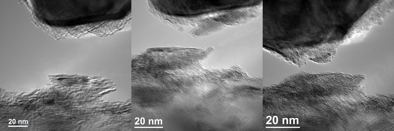 TEM images of in-situ tribology