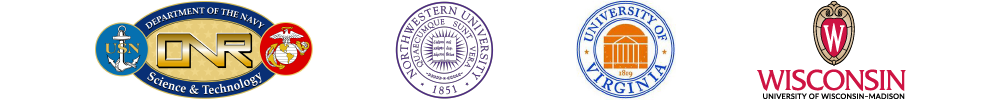 ONR, Northwestern, University of Virginia, and University of Wisconsin-Madison logos